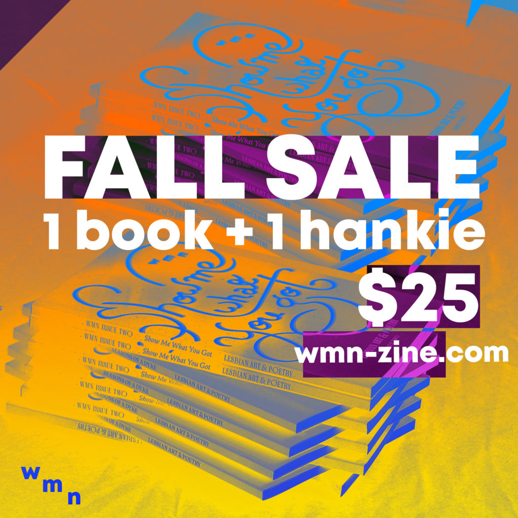 This flyer promotes a Limited time Fall sale for one book and one hankie.