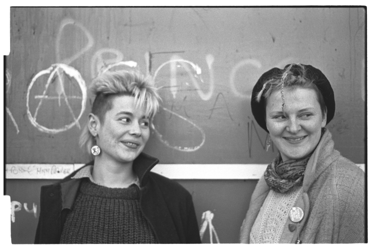 Black  and white photo of the author Stephanie Davies and friend by  'Show me What you Got' Collaborator Ming de Nasty.